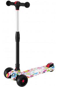 Самокат детский S920W (цветы) светящиеся колеса