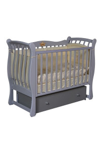 """Кроватка детская """"Viola 3"""" (фигурные спинки + аппликация)"""