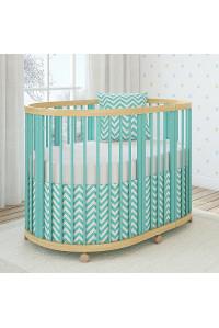 Овальная кроватка TreeO Mint