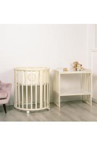 Кровать детская Incanto Amelia 8в1 круг-овал (массив бука, накладка ПВХ)