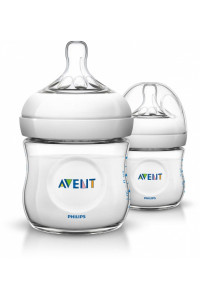 Бутылочка Avent Natural PP, 125 мл, сил. соска, 0+, 2 шт