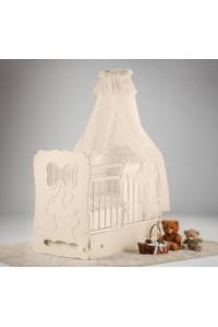 Кроватка детская Мальвина маятник поперечный с ящиком