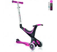 Самокат Y-SCOO RT GLOBBER My free Seat 5 in 1 pink с подножками и блокировкой колес