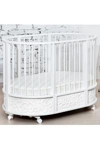 Кровать детская овальная с маятником,  декор Арабески