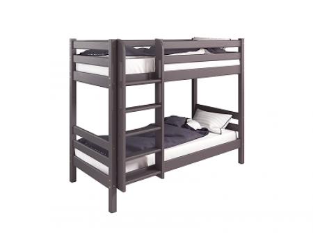 """Двухъярусная кровать """"Соня""""9 Лаванда с прямой лестницей"""