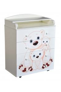 """Комод детский с пеленальной доской, с шариковыми направляющими """"Fantasia Teddy"""""""