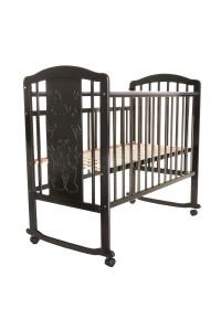 PITUSO Кровать детская Noli Мишутка колесо-качалка с наклад. опуск.планка Венге