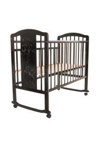 PITUSO Кровать детская Noli Жирафик колесо-качалка с наклад. опуск.планка Венге