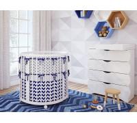 Овальная кроватка TreeO White