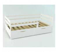 Кровать подростковая «Соня» сосна 160 х 80 см c ящиком белая
