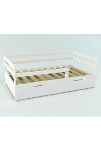 Кровать подростковая «Соня» сосна 180 х 90 см c ящиком белая