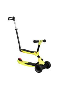 Беговел-самокат Rant Rider Plus со светящимися колесами желтый