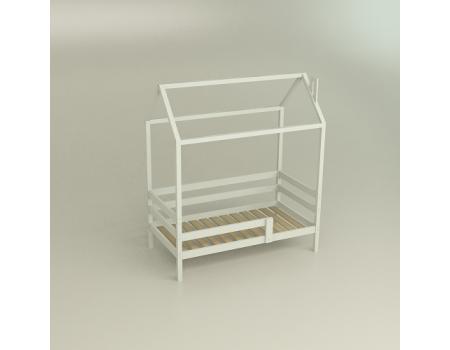 Кровать домик Сосна Classic белая 180*90 с/я