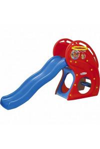 """Горка """"Дельфин"""" с баскетбольным кольцом HNP-716"""