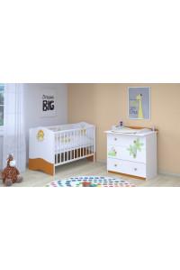 Детская комната Polini Basic Джунгли: кроватка детская+комод
