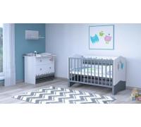 Детская комната Polini Basic Монстрики: кроватка детская+комод