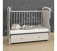 """Кровать детская """"ELSA"""" (маятн.попереч, ящик с шарик.напр., съемн.ламели, накл.ПВХ)"""