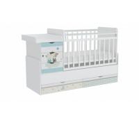 Кроватка детская ФЕЯ 1150 с  фотопечатью