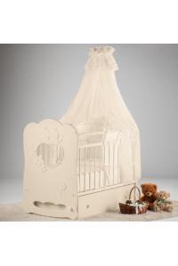 Кроватка детская Птенчики маятник поперечный с ящиком