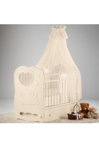 Кроватка детская Слоненок маятник поперечный с ящиком