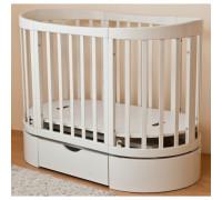 Кроватка овальная Паулина-4 С-324 125х65 маятн.прод. ящ