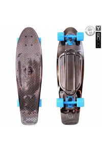 "Скейтборд Y-SCOO Big Fishskateboard metallic 27"" винил 68,6х19 с сумкой"