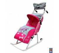 Санки-коляска Комфорт Люкс 11  с колесиками и муфтой